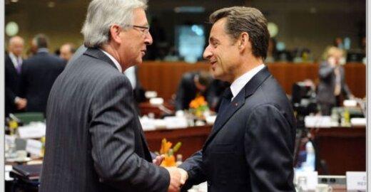 Liuksemburgo premjeras Jeanas - Claude Junckeris ir Prancūzijos prezidentas Nicolas Sarkozy