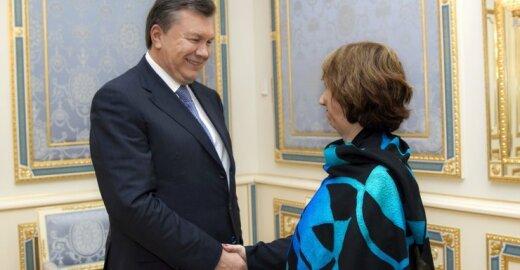 Viktoras Janukovyčius ir Catherine Ashton