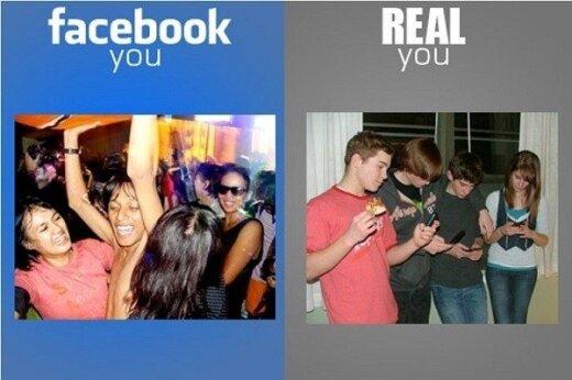 Facebook nuotrauka vs realybė
