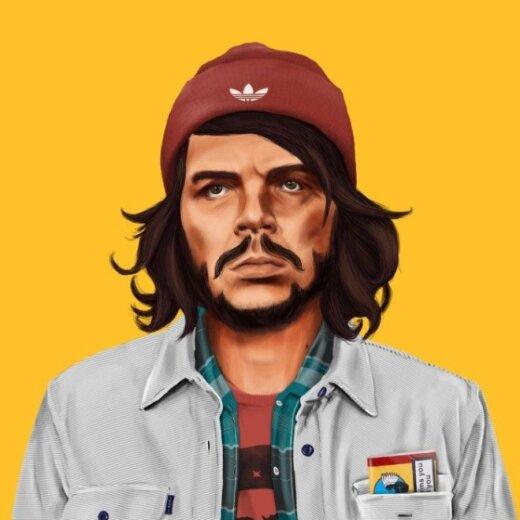 Menininkė žymius pasaulio žmones pavertė hipsteriais
