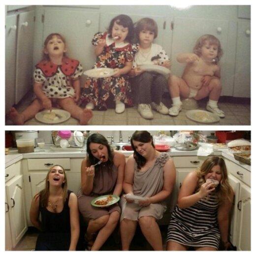 19 anksčiau ir dabar nuotraukų, kurios antrą kartą išėjo gerokai juokingiau