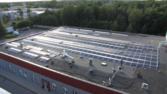 """Saulės elektrinė """"Viking Malt"""""""