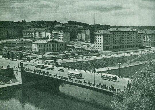 Žaliasis tiltas Vilniuje 1960 m.