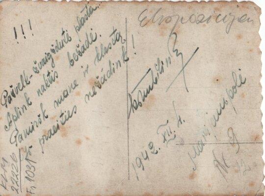 Poeto įrašas, 1942 m.