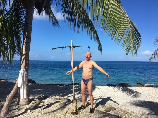 Dušas paplūdimyje