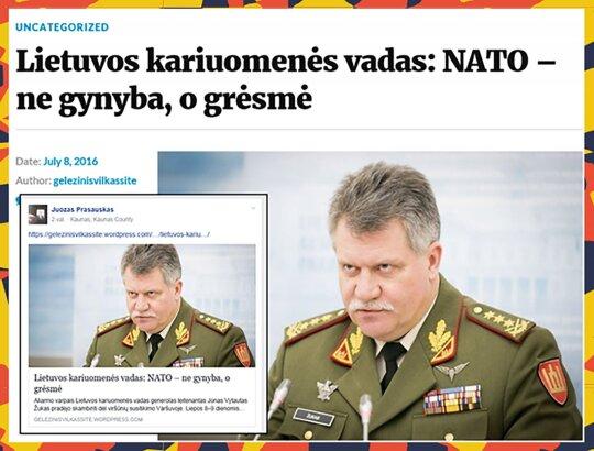 NATO yra grėsmė