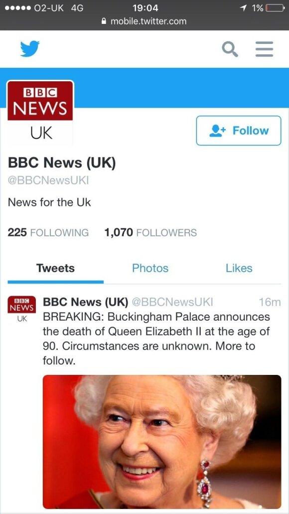Žinia apie karalienės mirtį įsiutino britus: ką tie rusai sau galvoja?