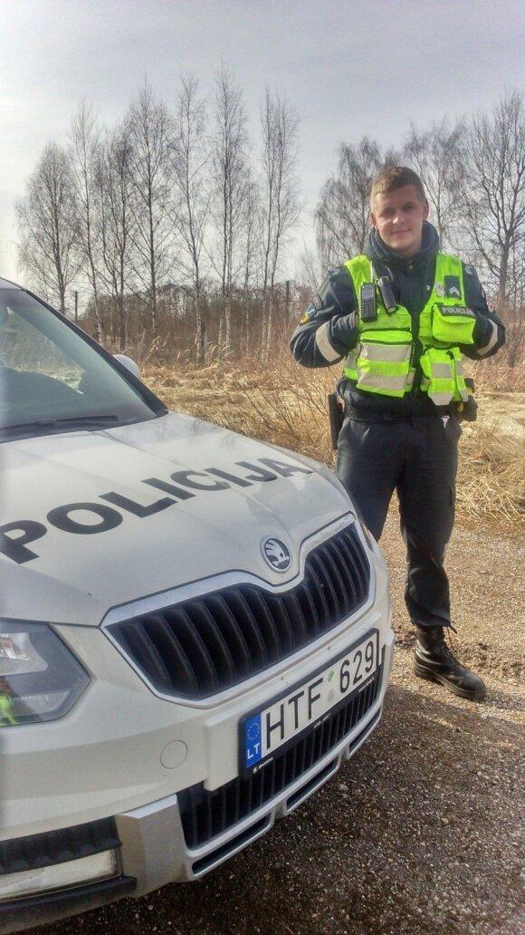 Marius Žiukelis, policijos pareigūnas, debiutuos žiemos ralyje