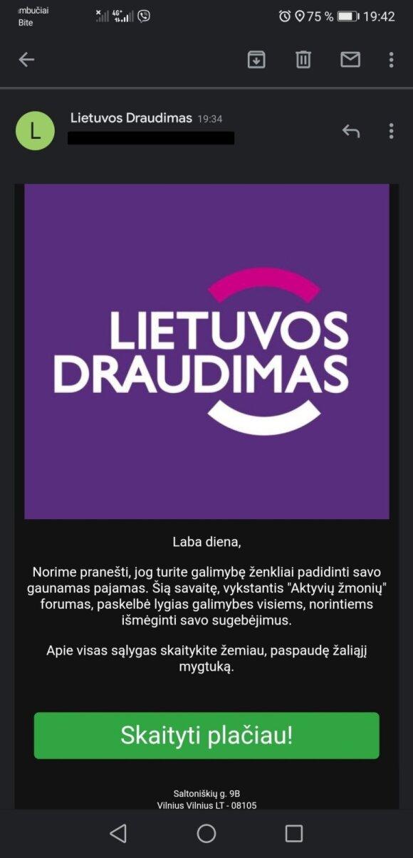 Sukčiai naudojasi Lietuvos draudimo vardu