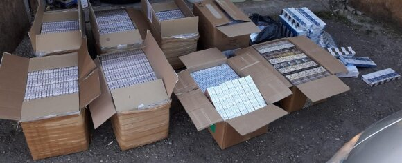 Marijampolėje nuomininkas garažą pavertė kontrabandos sandėliu
