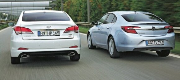 Opel Insignia prieš Hyundai i40