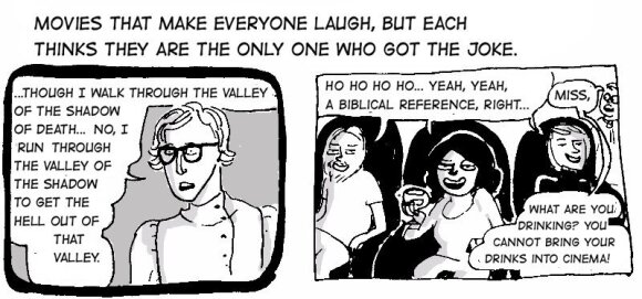 Comic: Laughing at the movies
