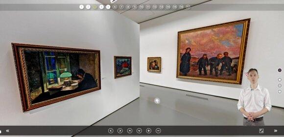 Virtualus turas Nacionalinėje dailės galerijoje