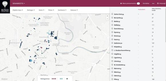 Prabangaus būsto žemėlapis