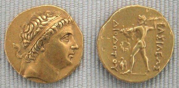 Moneta su karaliaus Diodoto atvaizdu