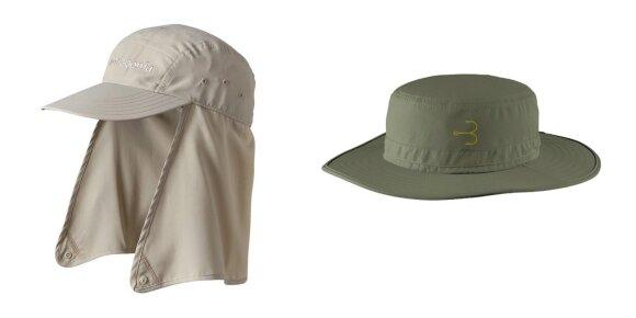 Kepuraitė su gobtuvu nuo saulės  ir Panamos tipo skrybėlė