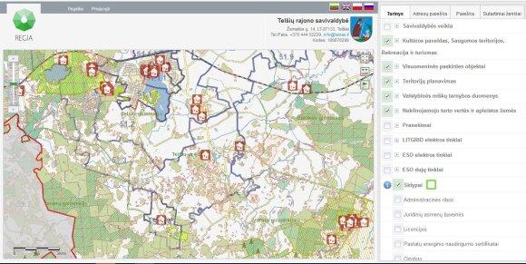 Regia interaktyvūs žemėlapiai