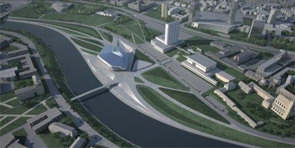 8 pav. Vilniaus Guggenheimo-Ermitažo muziejus, Z. Hadid projektas 2010 m. (iš Architektų sąjungos archyvo)