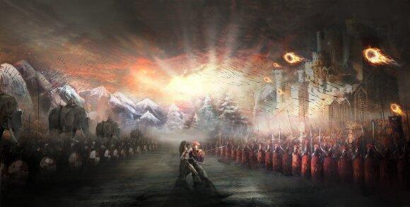 Romos ir Kartaginos kariuomenės - iliustracija