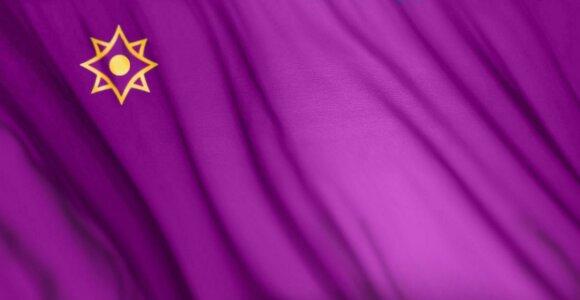 Ar žinote, kokios spalvos nebūna valstybių vėliavose?