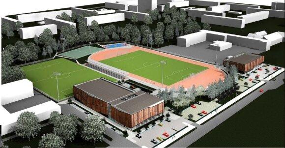 Klaipėdos futbolo mokyklos vizualizacija