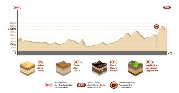 Tryliktojo Dakaro ralio etapo išklotinė