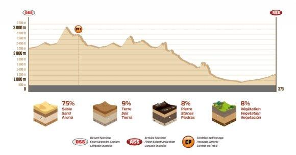 Dešimtojo Dakaro ralio etapo išklotinė