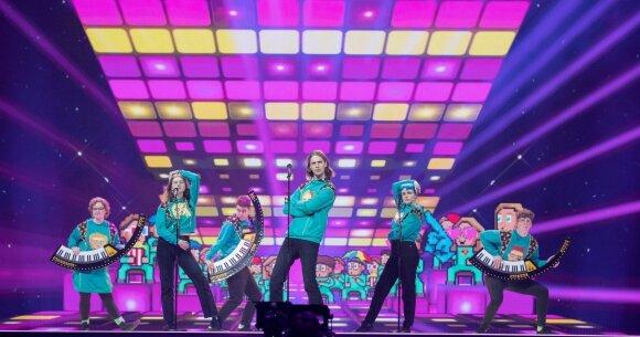 """Islandijos atstovai """"Eurovizijai""""/ Foto: EBU / ANDRES PUTTING"""