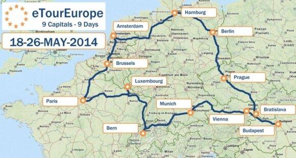 eTourEurope žemėlapis