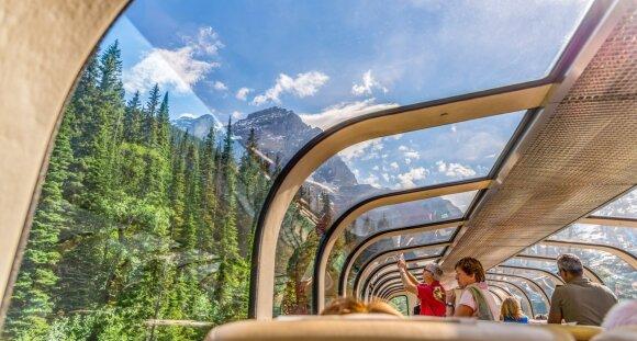 """""""Rocky Mountaineer"""" kelionės traukiniu"""