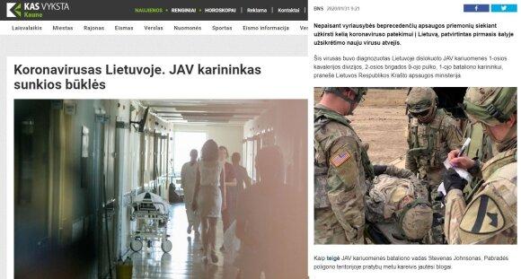 Paniką dėl koronaviruso sėja ir įsilaužėliai: nusitaikė į JAV karius Lietuvoje