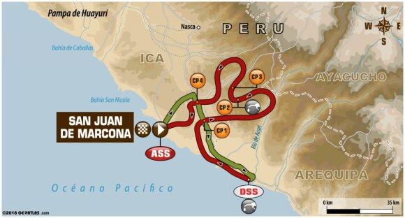 Ketvirtojo Dakaro ralio etapo maršrutas