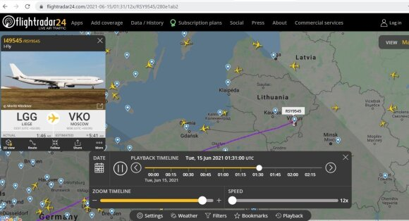 Lėktuvas Lježas - Maskva.