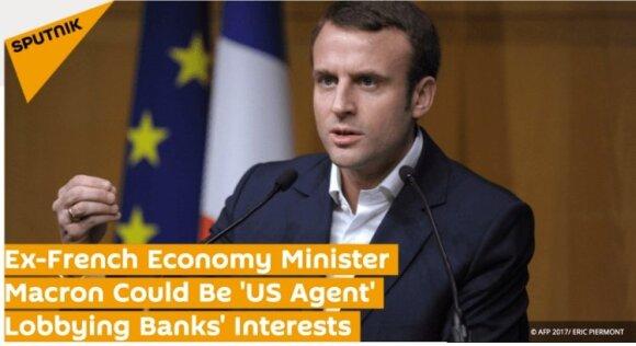 E. Macroną juodinantis straipsnis