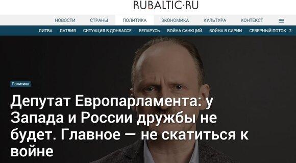 MEP: Vakarai su Rusija nedraugaus. Svarbiausia - išvengti karo