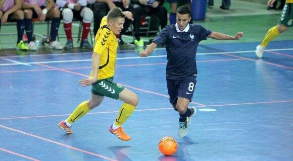 Salės futbolas: Lietuva-Prancūzija (E. Šemioto/LFF.lt nuotr.)