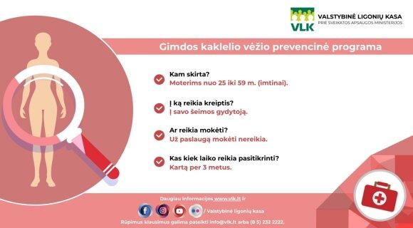 Gimdos kaklelio vėžio prevencinė programa