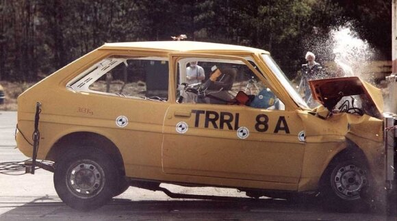 1991 m. Ford Fiesta saugumo testas