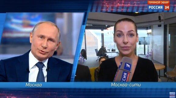 Naujas Putino spektaklis: tiesioginiame eteryje kliuvo ir Baltijos šalims