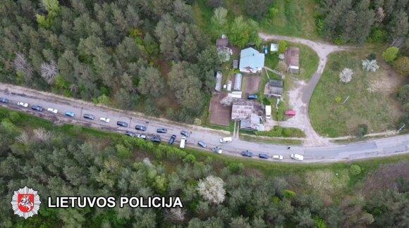 Vilniaus policija sužlugdė nelegalias lenktynes miesto gatvėse
