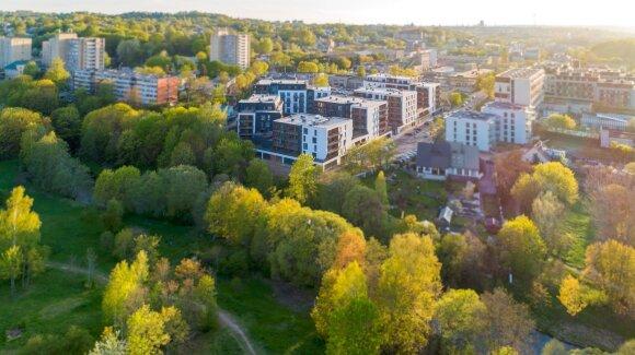 Vilniuje baigtas statyti gyvenamųjų namų kvartalas ant Vilnelės kranto