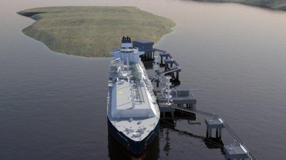 Suskystintų gamtinių dujų terminalas - laivas, Klaipėdos naftos nuotr.