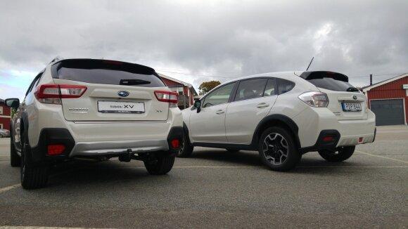 """""""Subaru XV"""": naujas ir pirmtakas"""