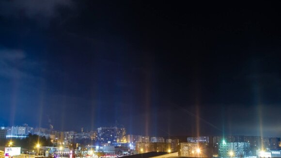 Šviesos stulpai Vilniuje