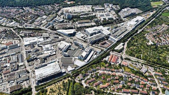 """Porsche Taycan"" gamykla Cufenhauzene Vokietijoje"