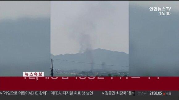 Po Kim Jong Uno sesers grasinimų Šiaurės Korėja susprogdino abiejų Korėjų ryšių biurą