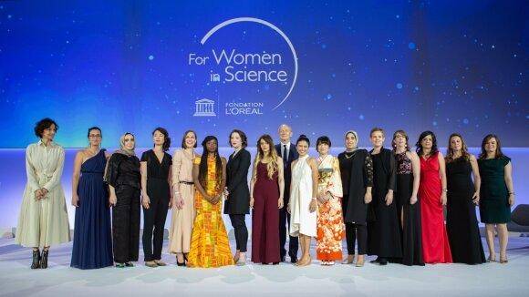 """""""L`ORÉAL Foundation"""" ir UNESCO programos """"Mokslo moterims"""" ir Tarptautinės kylančių talentų programos laureačių apdovanojimai"""