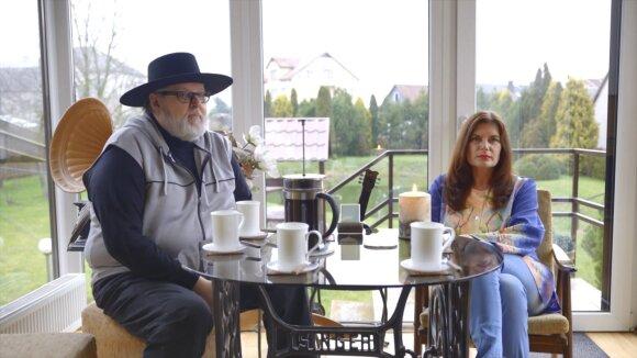 Virgis Stakėnas su žmona Ramute