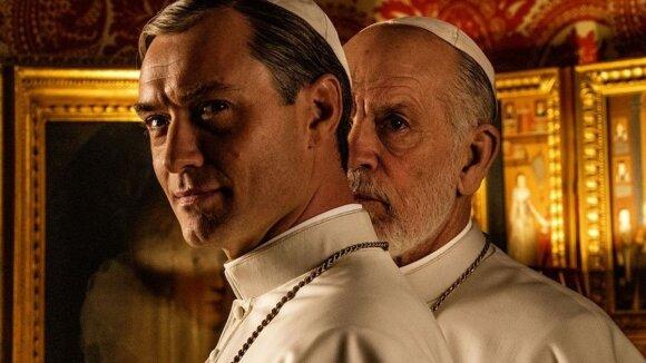 """Serialo """"Naujasis popiežius"""" plakatas /Foto: Go3.lt"""