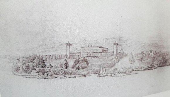 1840 metų Verkių rūmų rekonstrukcijos pasiūlymas